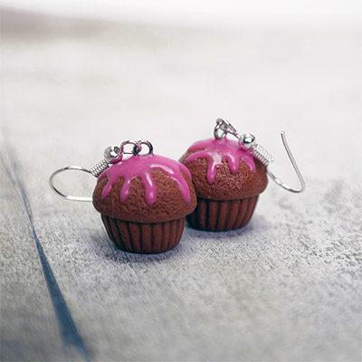 Epres muffin fülbevaló